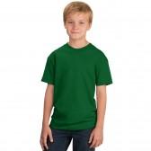 Футболка подростковая, однотонная, цвет тёмно-зелёный