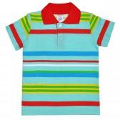 Рубашка-поло детская в полоску -04