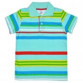 Рубашка-поло детская в полоску -05