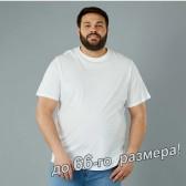 Футболка мужская, большого размера, белого цвета
