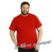 Футболка мужская, большого размера, красного цвета