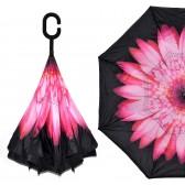 """Зонт наоборот """"Розовый цветок"""""""