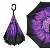 """Зонт наоборот """"Фиолетовый цветок"""""""