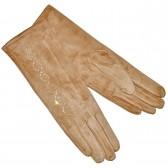 """Удлиненные женские перчатки """"Вьюнок"""" (beige)"""