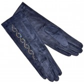 """Удлиненные женские перчатки """"Вьюнок"""" (d-blue)"""