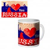 "Кружка керамическая ""I Love Rossia"""