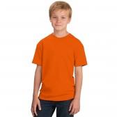 Футболка подростковая, однотонная, цвет оранжевый