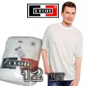 Футболка белая Lyon (Индия), упаковка 12 шт