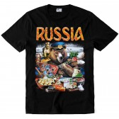 "Футболка ""Russia (Русский медведь)"""