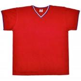Футболка V-ворот, пике, триколор (Браво), красный