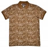 """Рубашка поло коричневая """"Абстракция"""" (Samo)"""