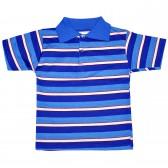 Рубашка-поло детская в полоску -08