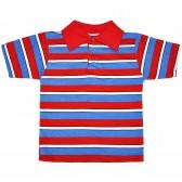 Рубашка-поло детская в полоску -06