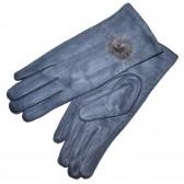 Перчатки женские, трикотажные -17 (l-blue)