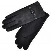 Перчатки мужские, комбинированные (черный)