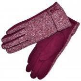 Перчатки женские, трикотажные -41 (red)