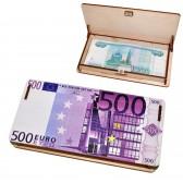 "Шкатулка-купюрница деревянная ""500 евро"""