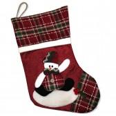 """Носок новогодний для подарка """"Снеговик"""""""