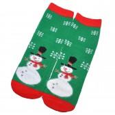"""Носки женские, махровые """"Снеговик и снежинки"""""""