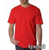 "Футболка однотонная, мужская ""Velvet"" цвет красный (стандарт)"