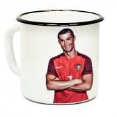 """Кружка металлическая """"Cristiano Ronaldo"""" (эмаль)"""