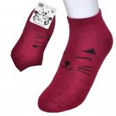 """Носки женские, короткие """"Китти"""" (бордовый)"""