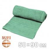 Полотенце махровое, лицевое SUFI (Индия), зеленый