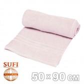 Полотенце махровое, лицевое SUFI (Индия), светло-розовый