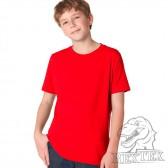 Футболка подростковая, однотонная, цвет красный (RexTex)