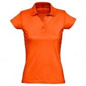 Рубашка-поло женская, однотонная (оранжевый)