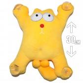 """Игрушка плюшевая на присосках """"Кот Саймона"""" 2 (желтый)"""
