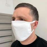 Маска на лицо от вирусов трикотажная, белая