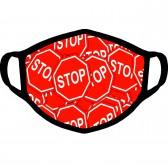 "Маска от вирусов с рисунком ""Знаки STOP"""