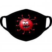 """Маска от вирусов с рисунком """"Красный вирус"""""""