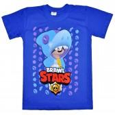 """Футболка подростковая """"Brawl Stars - Leon Dino"""" (синий)"""