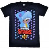 """Футболка подростковая """"Brawl Stars - Leon"""" (темно-синий)"""