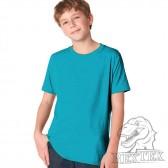 Футболка подростковая, однотонная, цвет голубой (RexTex)