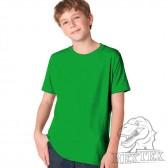 Футболка подростковая, однотонная, цвет зеленый (RexTex)