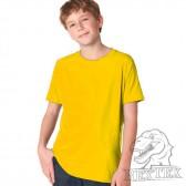 Футболка подростковая, однотонная, цвет желтый (RexTex)