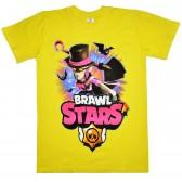 "Футболка подростковая ""Brawl Stars - Мортис"" (желтый)"