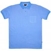 Рубашка-поло с карманом (Fayz-M), голубой