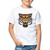 """Футболка с принтом, для мальчика """"Тигр хищник"""""""