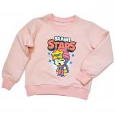 "Свитшот детский ""Brawl Stars - Sandy"" для девочки (персиковый)"