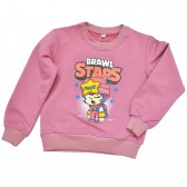 "Свитшот детский ""Brawl Stars - Sandy"" для девочки (лиловый)"