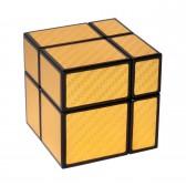 Зеркальный кубик Рубика, 2х2 gold (No. 563)