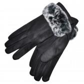 Перчатки женские для сенсорных экранов -3 (black)
