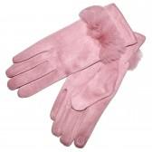 Перчатки женские для сенсорных экранов -3 (pink)