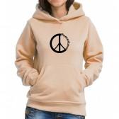 """Толстовка кенгуру женская с надписью """"Peace&Love"""""""