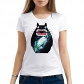 """Футболка с принтом, женская """"Космический кот Тоторо"""""""