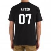 Футболка с номером и именем Артём (на спине)
